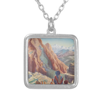 Vintage Travel Peru Silver Plated Necklace