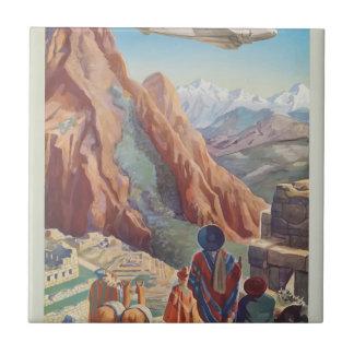 Vintage Travel Peru Tile