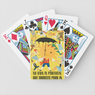 Vintage Travel Portugal Bicycle Playing Cards
