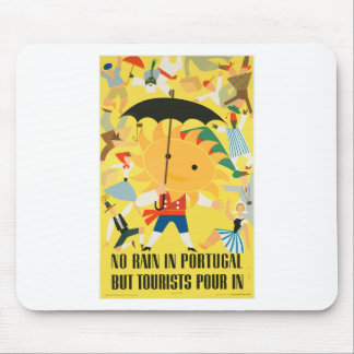 Vintage Travel Portugal Mouse Pad