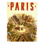 Vintage Travel Poster Arc de Triomphe Paris France Postcard