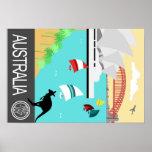 Vintage travel poster Australia
