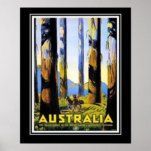 Vintage Travel Poster Australia Large Size