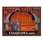 Vintage Travel Poster, Casablanca, Morocco, Africa Postcard