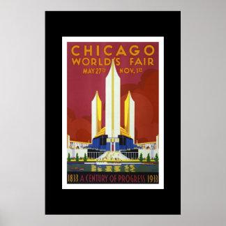 Vintage Travel Poster Chicago World's Fair