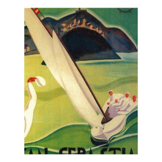 Vintage Travel Poster Donostia San Sebastian Letterhead
