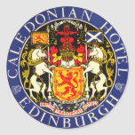 Vintage Travel Poster, Edinburgh, Scotland Stickers