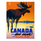 Vintage Travel Poster For Canada Postcard
