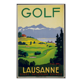 Vintage Travel Poster for Lausanne