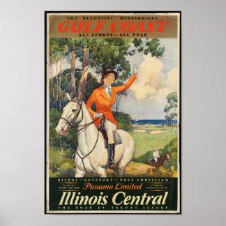Vintage Travel Poster for Mississippi