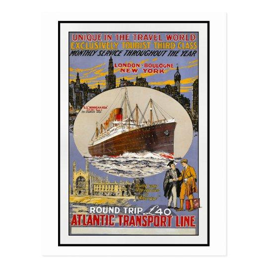 Vintage Travel Poster For New York Postcard