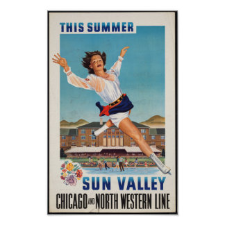 Vintage Travel Poster for Sun Valley, Idaho