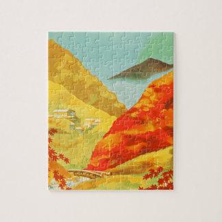 Vintage Travel Poster Japan Jigsaw Puzzle