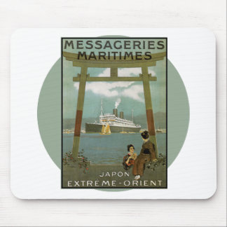 Vintage Travel Poster - Japan Mouse Pad