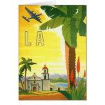 Vintage Travel Poster, Los Angeles, California Greeting Card