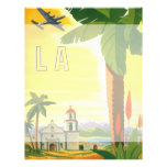 Vintage Travel Poster, Los Angeles, California Personalized Flyer