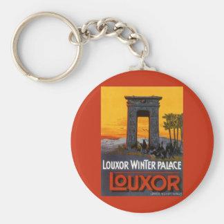 Vintage Travel Poster, Louxor Winter Palace, Egypt Basic Round Button Keychain
