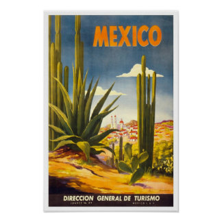 Vintage Travel Poster Mexico 2