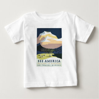 Vintage Travel Poster Montana America USA Baby T-Shirt