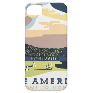 Vintage Travel Poster Montana America USA Case For The iPhone 5