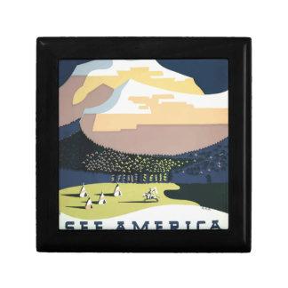 Vintage Travel Poster Montana America USA Gift Box