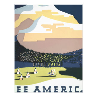 Vintage Travel Poster Montana America USA Letterhead