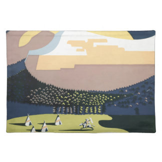 Vintage Travel Poster Montana America USA Placemat