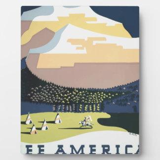 Vintage Travel Poster Montana America USA Plaque