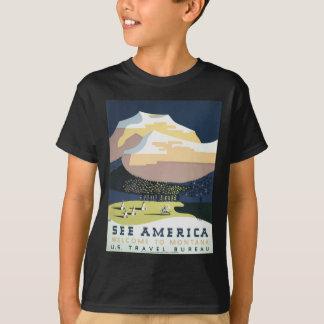 Vintage Travel Poster Montana America USA T-Shirt