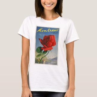 Vintage-Travel-Poster-Montreux-Switzerland T-Shirt