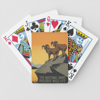 Vintage Travel Poster National Parks America USA Bicycle Playing Cards