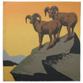 Vintage Travel Poster National Parks America USA Napkin