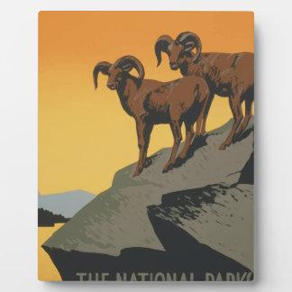 Vintage Travel Poster National Parks America USA Plaque