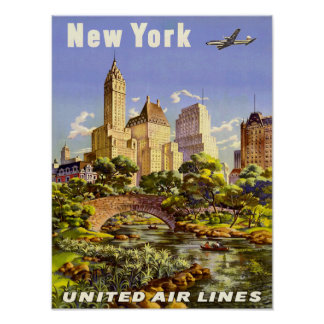 Vintage Travel Poster New York