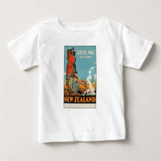 Vintage Travel Poster New Zealand Baby T-Shirt