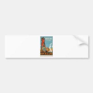 Vintage Travel Poster New Zealand Bumper Sticker