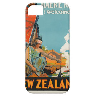 Vintage Travel Poster New Zealand iPhone 5 Cover