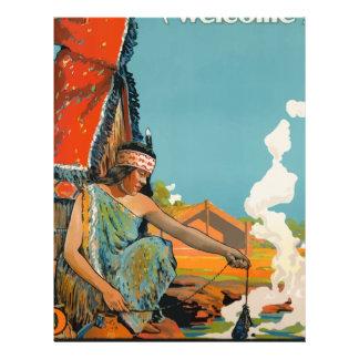 Vintage Travel Poster New Zealand Letterhead