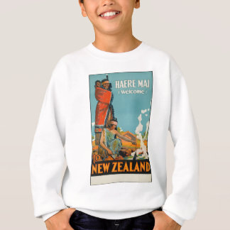 Vintage Travel Poster New Zealand Sweatshirt