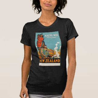 Vintage Travel Poster New Zealand T-Shirt