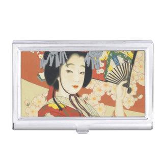 Vintage Travel Poster Osaka Japan Business Card Holder
