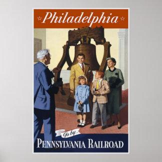 Vintage Travel Poster Philadelphia Railroad