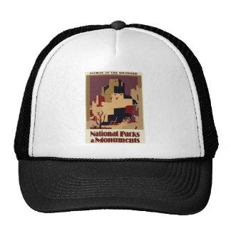 Vintage-Travel-Poster-Pueblos-Of-The-Southwest Trucker Hat
