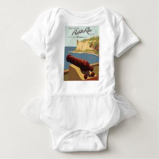 Vintage Travel Poster Puerto Rico Baby Bodysuit