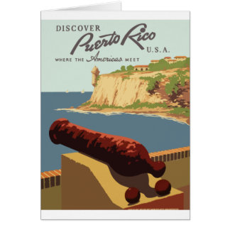 Vintage Travel Poster Puerto Rico Card