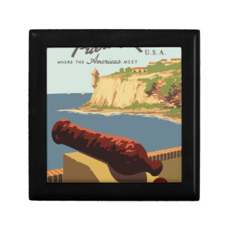 Vintage Travel Poster Puerto Rico Gift Box