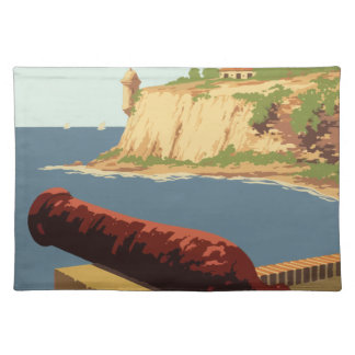 Vintage Travel Poster Puerto Rico Placemat