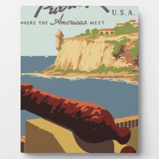 Vintage Travel Poster Puerto Rico Plaque