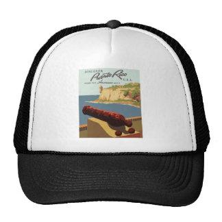 Vintage-Travel-Poster-Puerto-Rico Trucker Hat