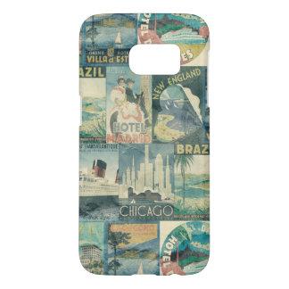 Vintage Travel Poster Samsung Galaxy S7 Case
